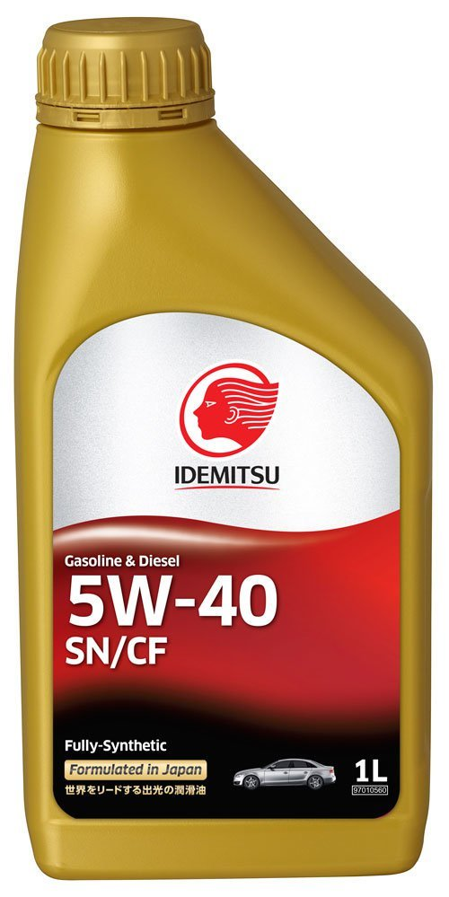 Idemitsu  Fully-Synthetic  5W40 SN/CF  масло моторное синт.  (1л) 30015048-724