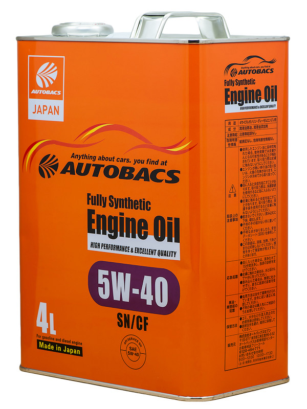 AUTOBACS ENGINE OIL FS 5W40 SN/CF Моторное масло 4л A01508404