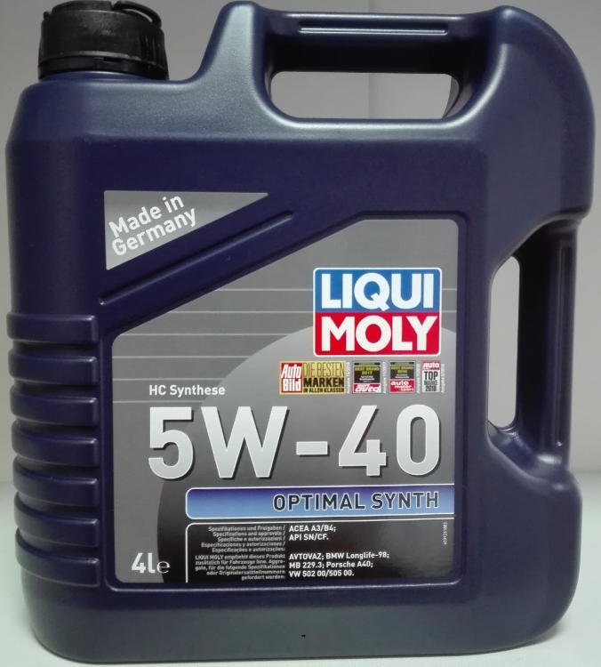 LiquiMoly  Optimal Synth  5W40 SN/CF A3/B4 HC-синтетика  (4л) 3926