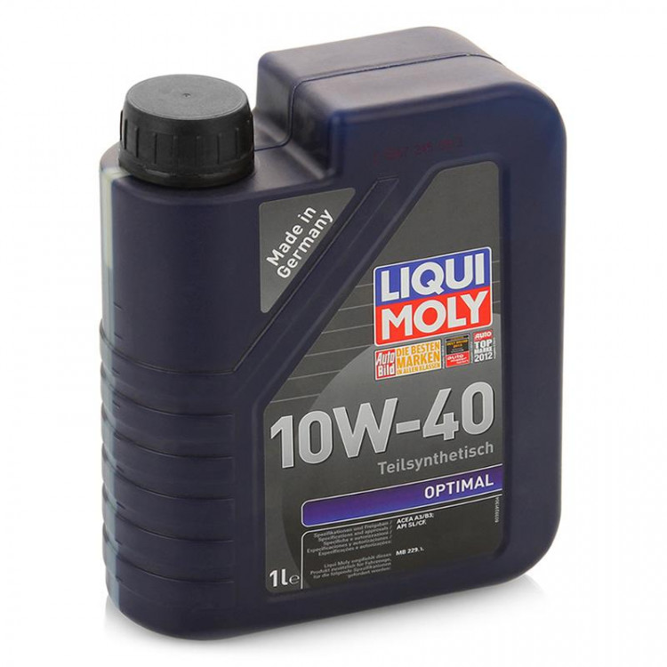 LiquiMoly  Optimal  10W40 SL/CF A3/B3 полусинтетика  (1л)