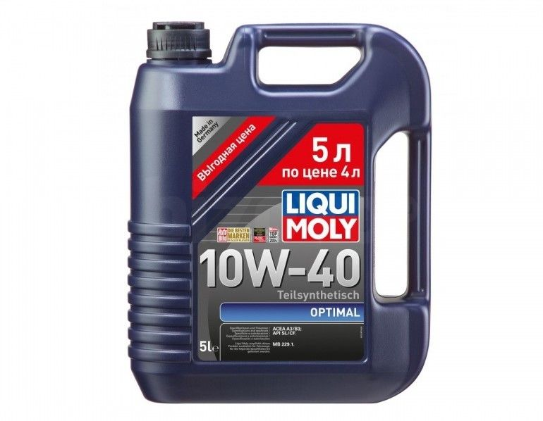 LiquiMoly  Optimal  10W40 SL/CF A3/B3 полусинтетика  (5л)