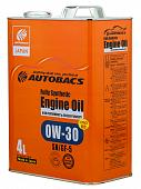 AUTOBACS ENGINE OIL FS 0W30 SN/GF-5+PAO Моторное масло 4л A01508398